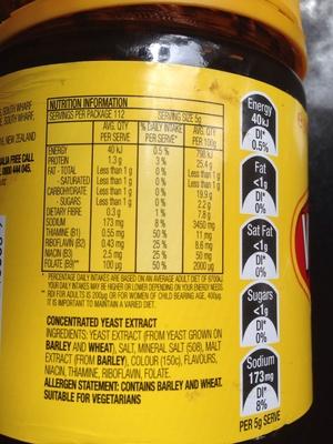 Vegemite mondelez australia foods 560g for Australian cuisine facts